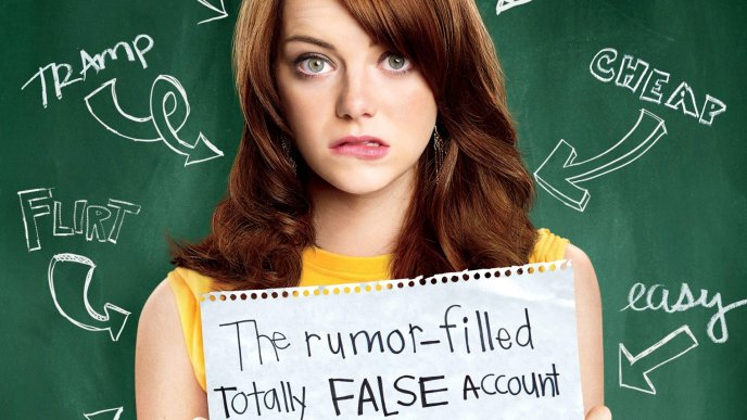 Emma Stone as Olive in Easy A movie