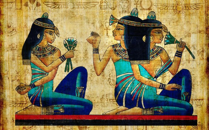 An ancient Egyptian papyrus drawing - HD wallpaper