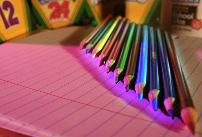 Magic crayons for a new school year