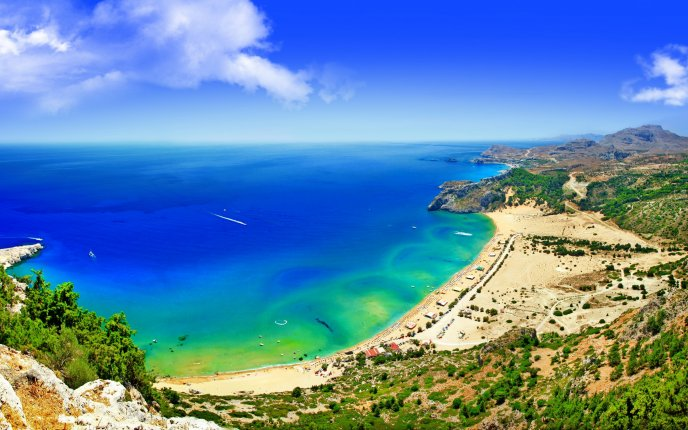 Wonderful place for summer holiday - beach and water