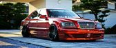Red Toyota Crown Majesta - Tuned car