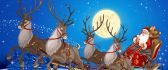 Santa Claus start his journey - Magic Night of Christmas