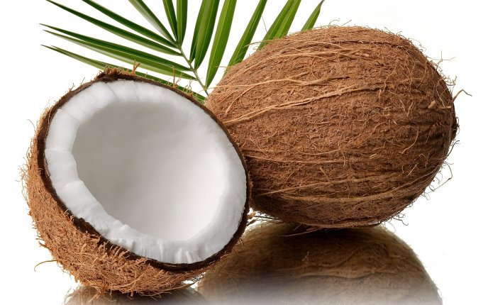 One and a half coconut HD wallpaper