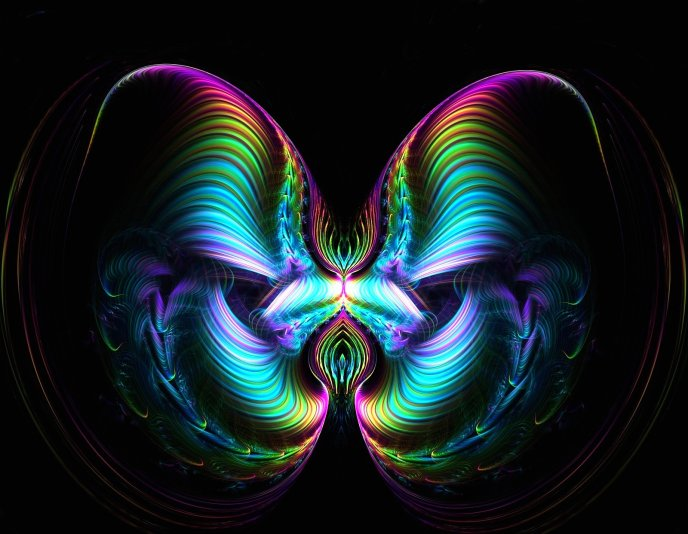 Abstract butterfly - digital art design