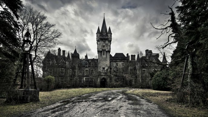 Scary Halloween castle - beautiful architecture