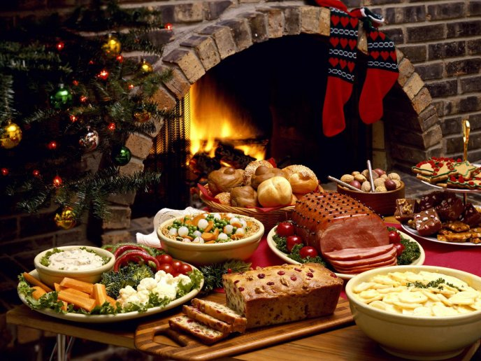 Christmas food in the most magic night of the year