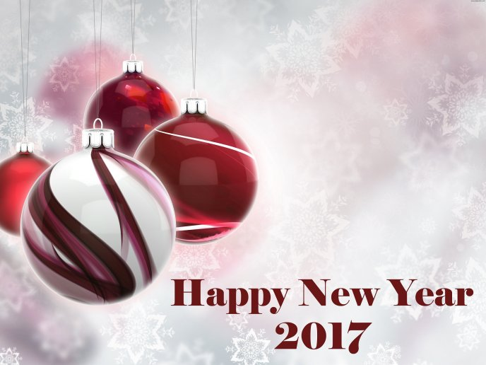 Red and silver accessories - Happy New Year 2017