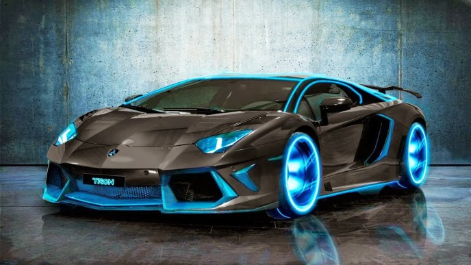 Blue light Tron car - Wonderful design