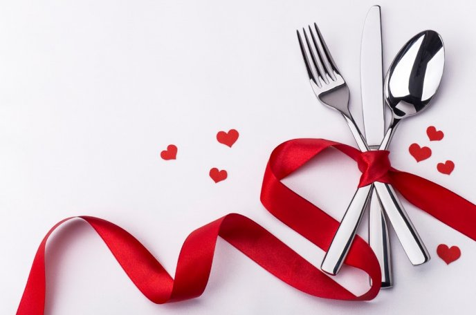 Romantic dinner on 14th February - Happy Valentines Day