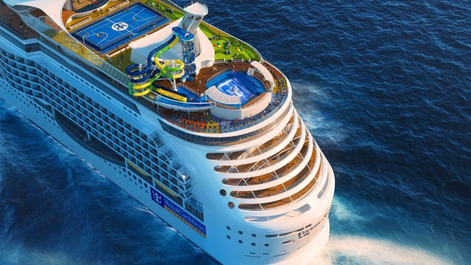 Royal Caribbean cruise on the ocean -Romantic summer holiday